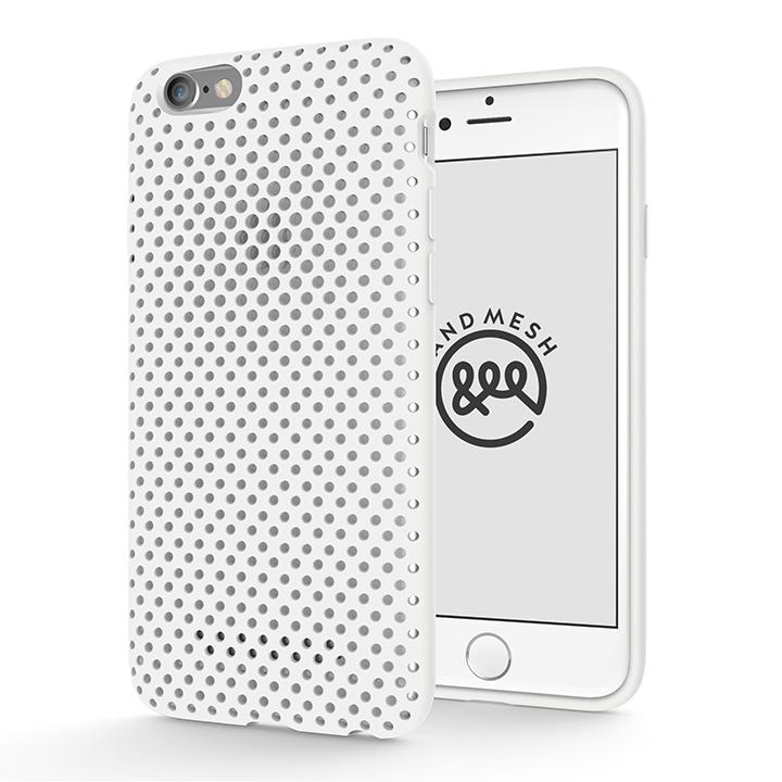 【iPhone6s/6ケース】エラストマー AndMesh MESH CASE ホワイト iPhone 6s/6ケース_0