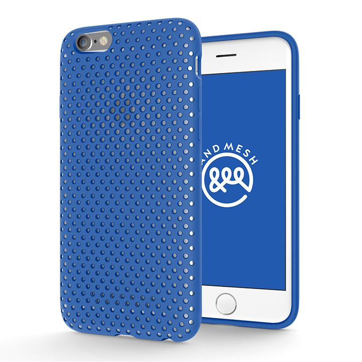 エラストマー AndMesh MESH CASE ブルー iPhone 6s/6ケース