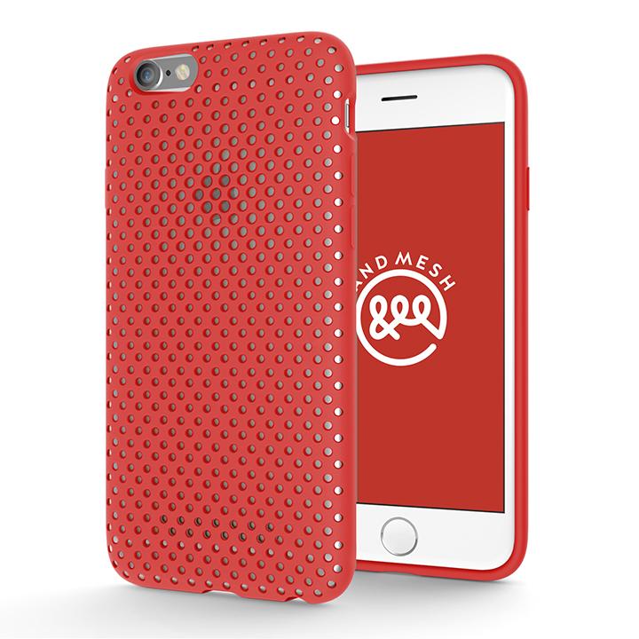 【iPhone6s/6ケース】エラストマー AndMesh MESH CASE レッド iPhone 6s/6ケース_0