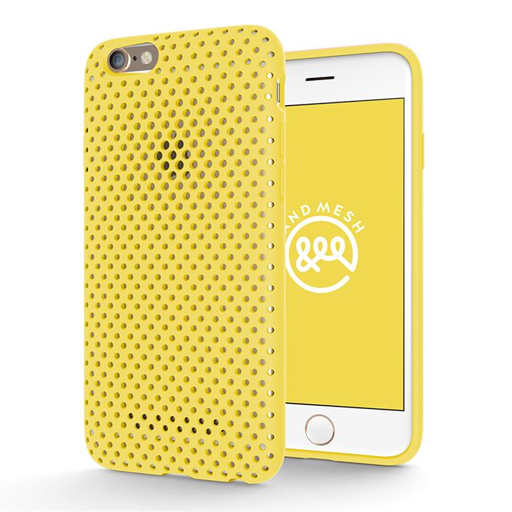 エラストマー AndMesh MESH CASE イエロー iPhone 6s/6ケース