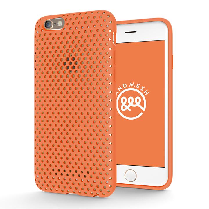 【iPhone6s/6ケース】エラストマー AndMesh MESH CASE オレンジ iPhone 6s/6ケース_0