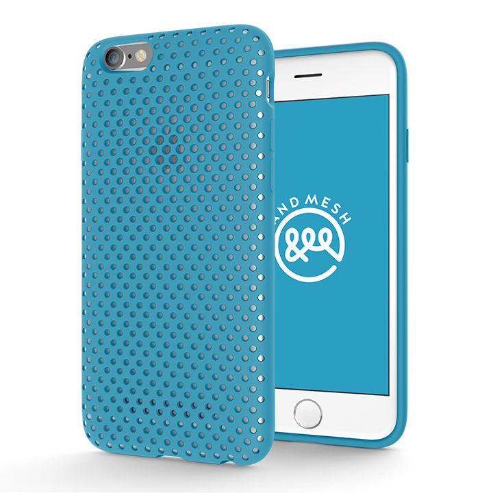 【iPhone6s/6ケース】エラストマー AndMesh MESH CASE ターコイズ iPhone 6s/6ケース_0
