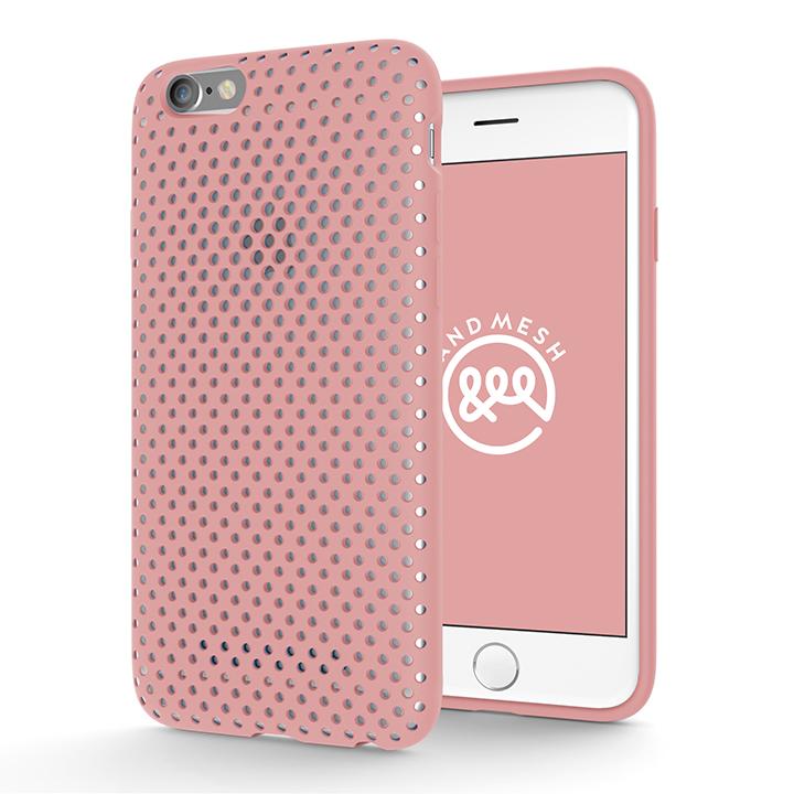 【iPhone6s/6ケース】エラストマー AndMesh MESH CASE ピンク iPhone 6s/6ケース_0