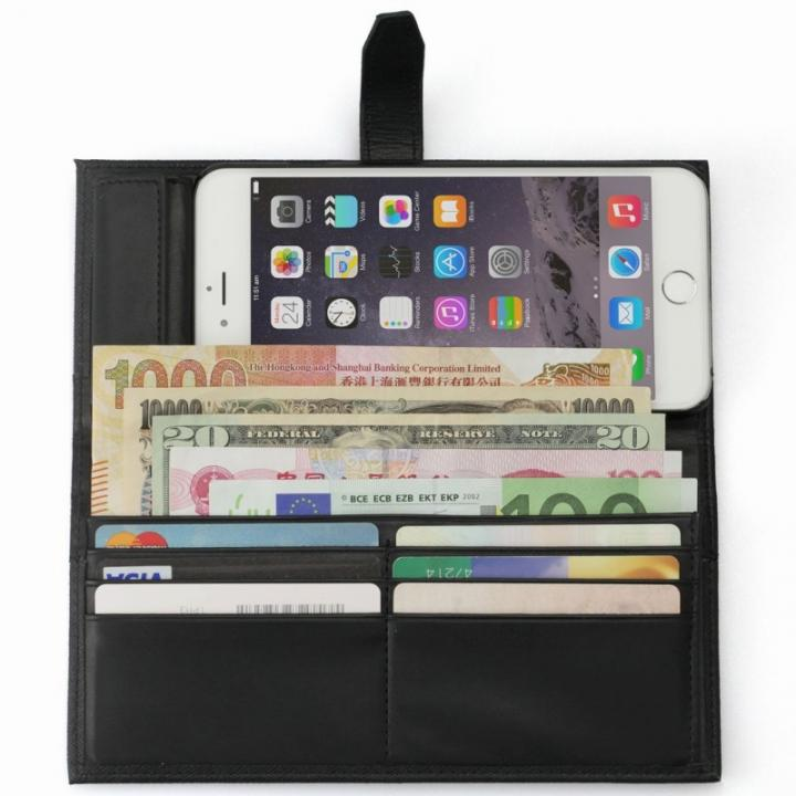 【iPhone6s Plusケース】Complete Wallet 手帳型ケース ブラック iPhone 6s Plus/6 Plus_0
