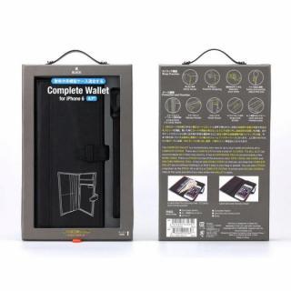 【iPhone6sケース】Complete Wallet 手帳型ケース ブラック iPhone 6s/6_7