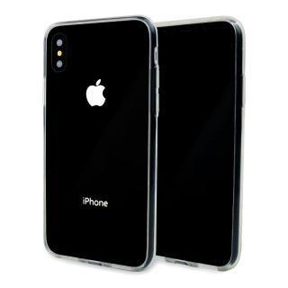 【iPhone X ケース】A+ 背面強化ガラス×TPUハイブリッドケース Clear Panel Case
