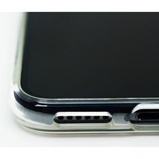 【iPhone X/XSケース】A+ 背面強化ガラス×TPUハイブリッドケース Clear Panel Case for iPhone XS/iPhone X_3