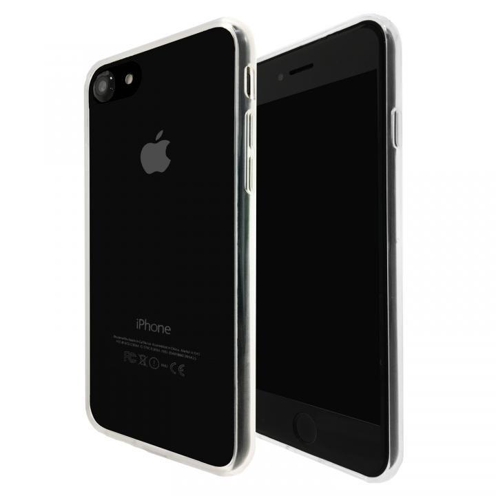 iPhone8/7 ケース A+ 背面強化ガラス×TPUハイブリッドケース Clear Panel Case for iPhone 8/7_0