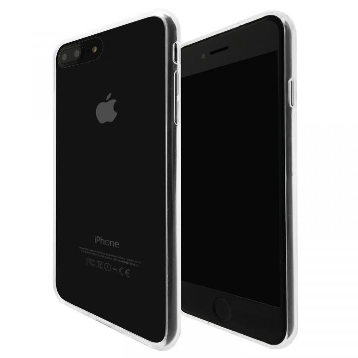 iPhone8 Plus/7 Plus ケース A+ 背面強化ガラス×TPUハイブリッドケース Clear Panel Case for iPhone 8 Plus/7 Plus_0