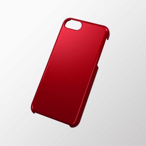 iPhone 5c用 シェルカバー(メタリック) レッド_0