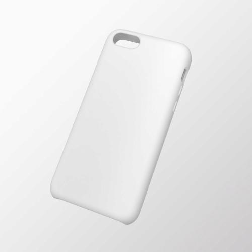 iPhone 5c用 シリコンケース ホワイト_0