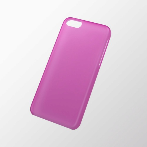 iPhone 5c用 シェルカバー(薄型) ピンク_0