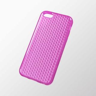 iPhone 5c用 ソフトケース(ダイアモンドカットラメ) ラメディープピンク