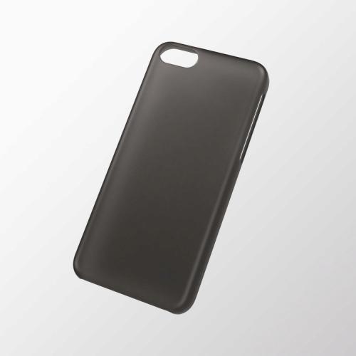 iPhone 5c用 シェルカバー(薄型) ブラック_0