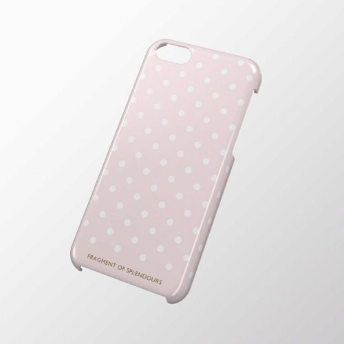iPhone 5c用 シェルカバー ドットピンク_0