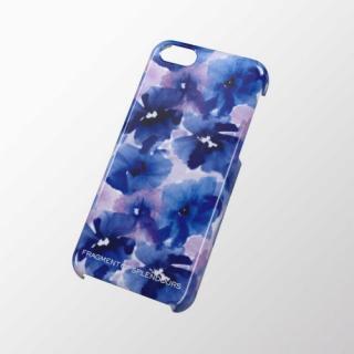 iPhone 5c用 シェルカバー フラワー(ブルー)