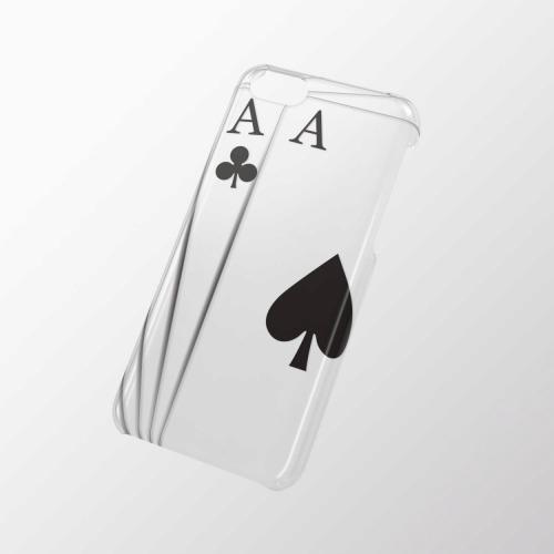iPhone 5c用 シェルカバー(アップルテクスチャ) トランプ_0