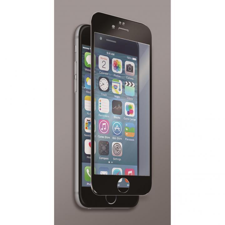 [0.40mm]マグネシウム合金フレーム 強化ガラスフィルム ブラック iPhone 6s