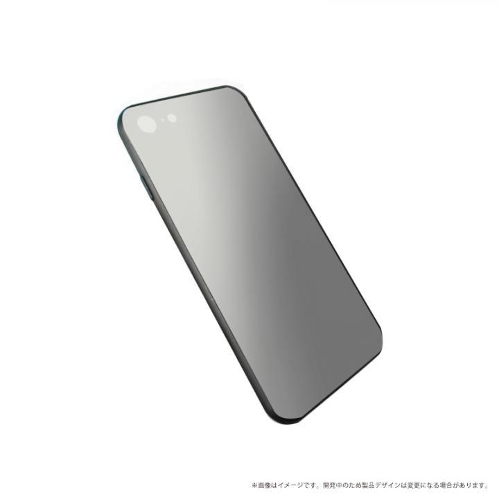 LEPLUS 背面ガラスシェルケース「SHELL GLASS」 シルバー iPhone X