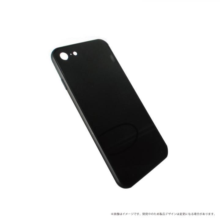 LEPLUS 背面ガラスシェルケース「SHELL GLASS」 ブラック iPhone 8/7