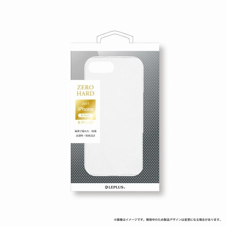【iPhone8ケース】LEPLUS 超極薄ハードケース 「ZERO HARD」 クリア iPhone 8_0