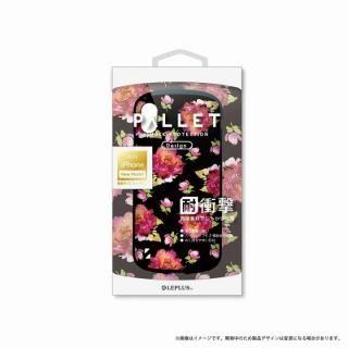 LEPLUS 耐衝撃ハイブリッドケース「PALLET Design」 フラワーブラック iPhone X【9月下旬】