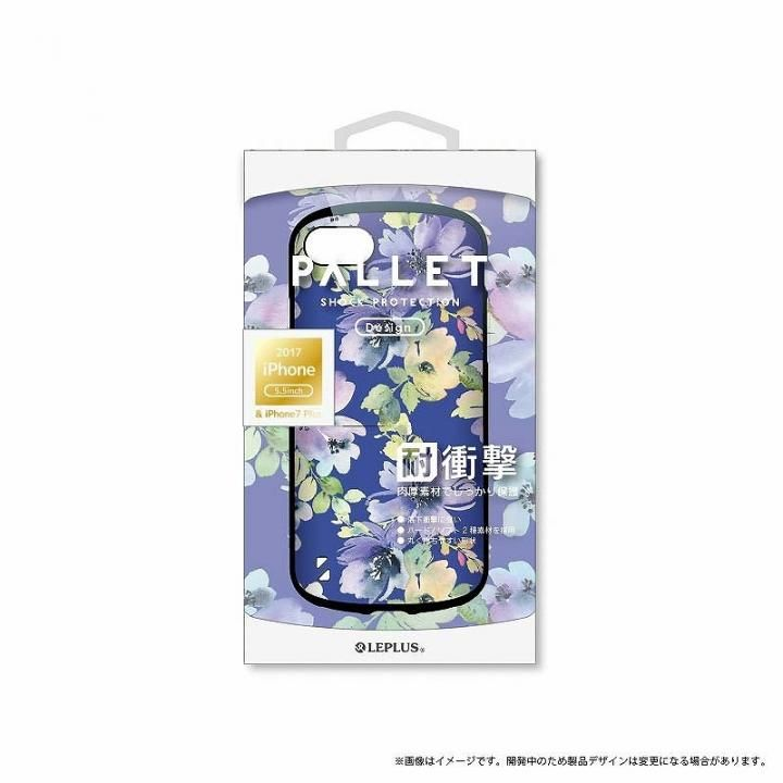 iPhone8 Plus/7 Plus ケース LEPLUS 耐衝撃ハイブリッドケース「PALLET Design」 フラワーブルー iPhone 8 Plus/7 Plus_0