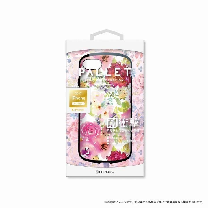iPhone8/7 ケース LEPLUS 耐衝撃ハイブリッドケース「PALLET Design」 フラワーピンク iPhone 8/7_0