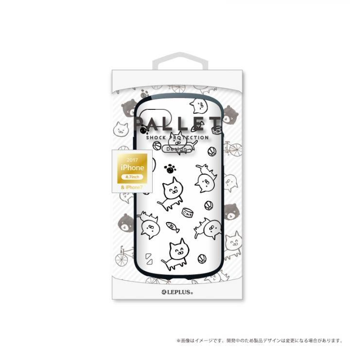 【iPhone8/7ケース】LEPLUS 耐衝撃ハイブリッドケース「PALLET Design」 ねこ iPhone 8/7_0