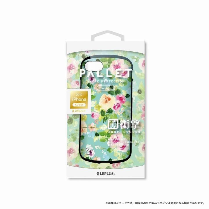 iPhone8/7 ケース LEPLUS 耐衝撃ハイブリッドケース「PALLET Design」 フラワーグリーン iPhone SE 第2世代/8/7_0