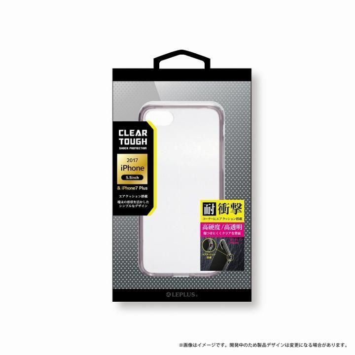 LEPLUS 耐衝撃ハイブリッドケース「CLEAR TOUGH」 クリアブラック iPhone 8 Plus/7 Plus