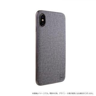 メタルソフトPU シェル型ケース Glacier Luxe Kanvas グレイ iPhone XS/X