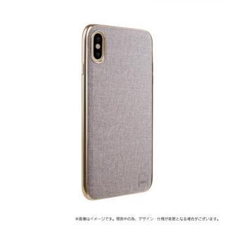 【iPhone X ケース】メタルソフトPU シェル型ケース Glacier Luxe Kanvas ベージュ iPhone XS/X