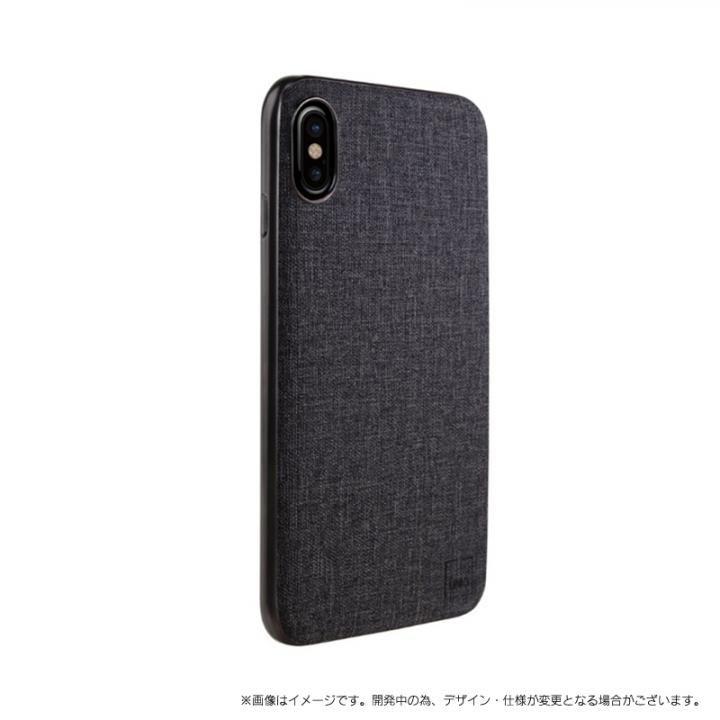 メタルソフトPU シェル型ケース Glacier Luxe Kanvas ブラック iPhone X