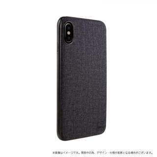 メタルソフトPU シェル型ケース Glacier Luxe Kanvas ブラック iPhone XS/X