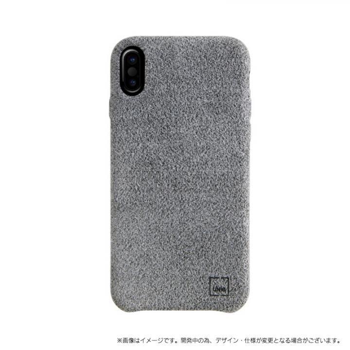 スリムファブリック シェル型ケース Feltro グレイ iPhone X