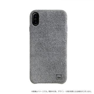 【iPhone X ケース】スリムファブリック シェル型ケース Feltro グレイ iPhone X