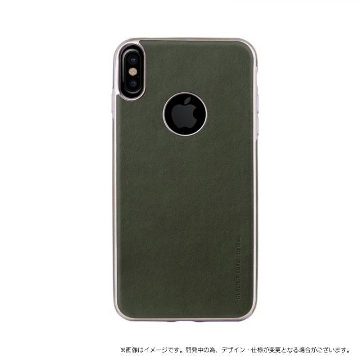 ソフトPU シェル型ケース Glacier Luxe Heritage グリーン iPhone X
