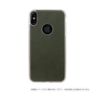 ソフトPU シェル型ケース Glacier Luxe Heritage グリーン iPhone XS/X