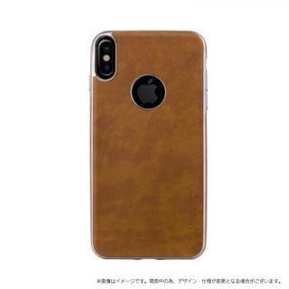 ソフトPU シェル型ケース Glacier Luxe Heritage キャメル iPhone X【9月下旬】