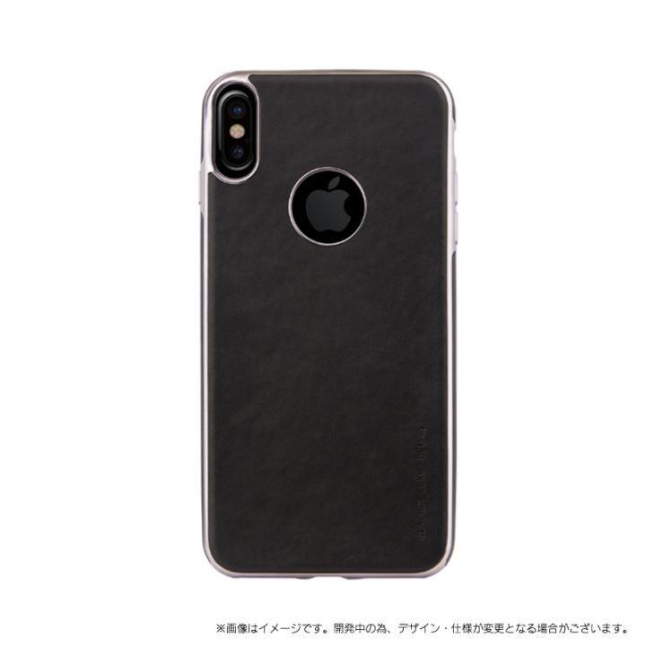 【iPhone XS/Xケース】ソフトPU シェル型ケース Glacier Luxe Heritage ブラック iPhone XS/X_0
