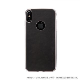 ソフトPU シェル型ケース Glacier Luxe Heritage ブラック iPhone X