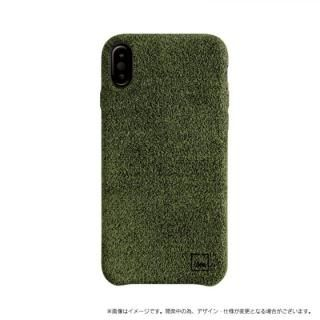スリムファブリック シェル型ケース Feltro グリーン iPhone X
