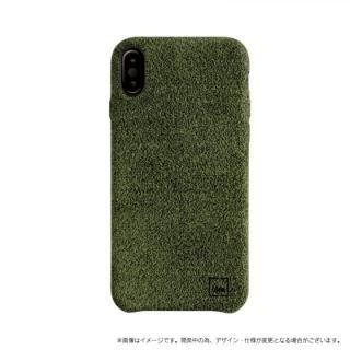 スリムファブリック シェル型ケース Feltro グリーン iPhone X【9月下旬】