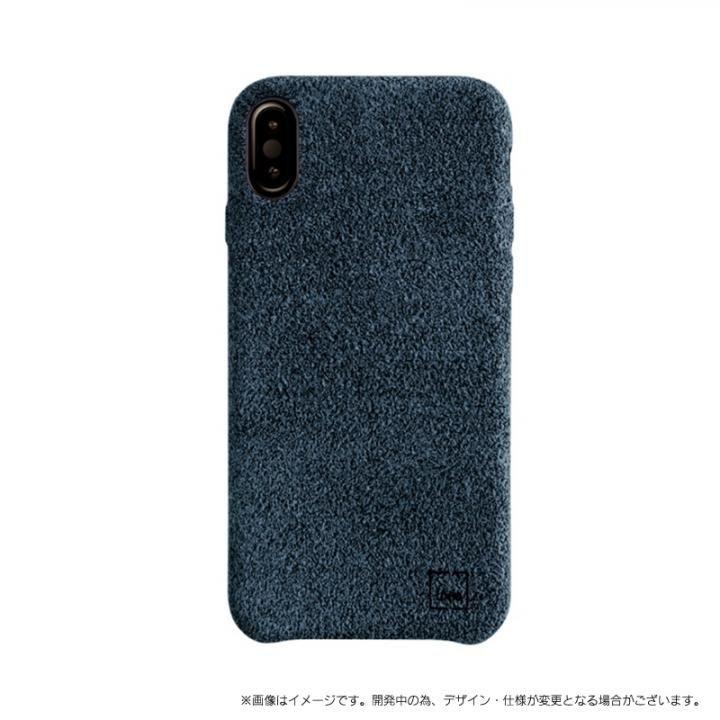 スリムファブリック シェル型ケース Feltro ブルー iPhone X