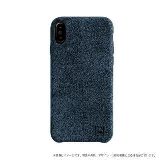 スリムファブリック シェル型ケース Feltro ブルー iPhone X【9月下旬】