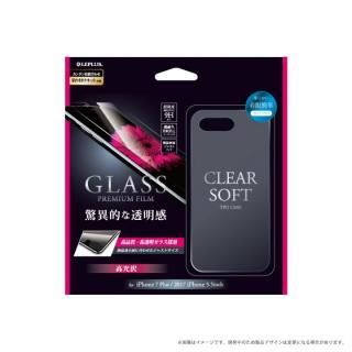 LEPLUS 0.33mm強化ガラス+クリアソフトケース セット 「GLASS + CLEAR TPU」 クリア iPhone 8 Plus/7 Plus