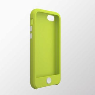 iPhone 5c用 カラフルシリコンケース グリーン×ホワイト