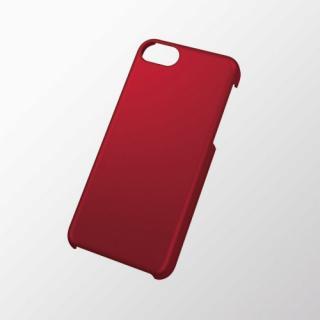 iPhone 5c用 シェルカバー(ラバーグリップ) レッド