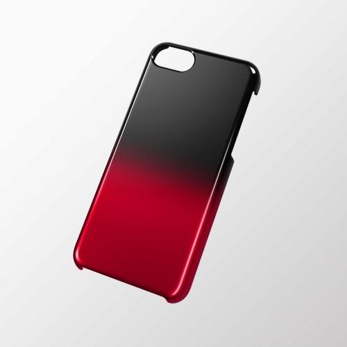 iPhone 5c用 シェルカバー(グラデーション) ブラック×レッド_0